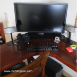 How to Organize your Computer Cables under a Wooden Desk