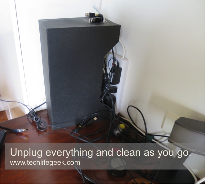 Unplug and clean the cables