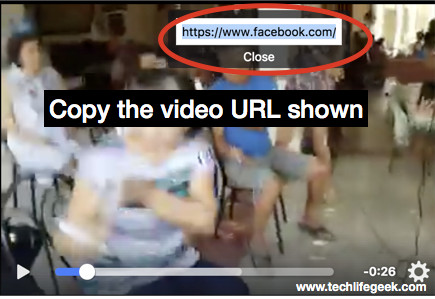 Copy Facebook Video URL